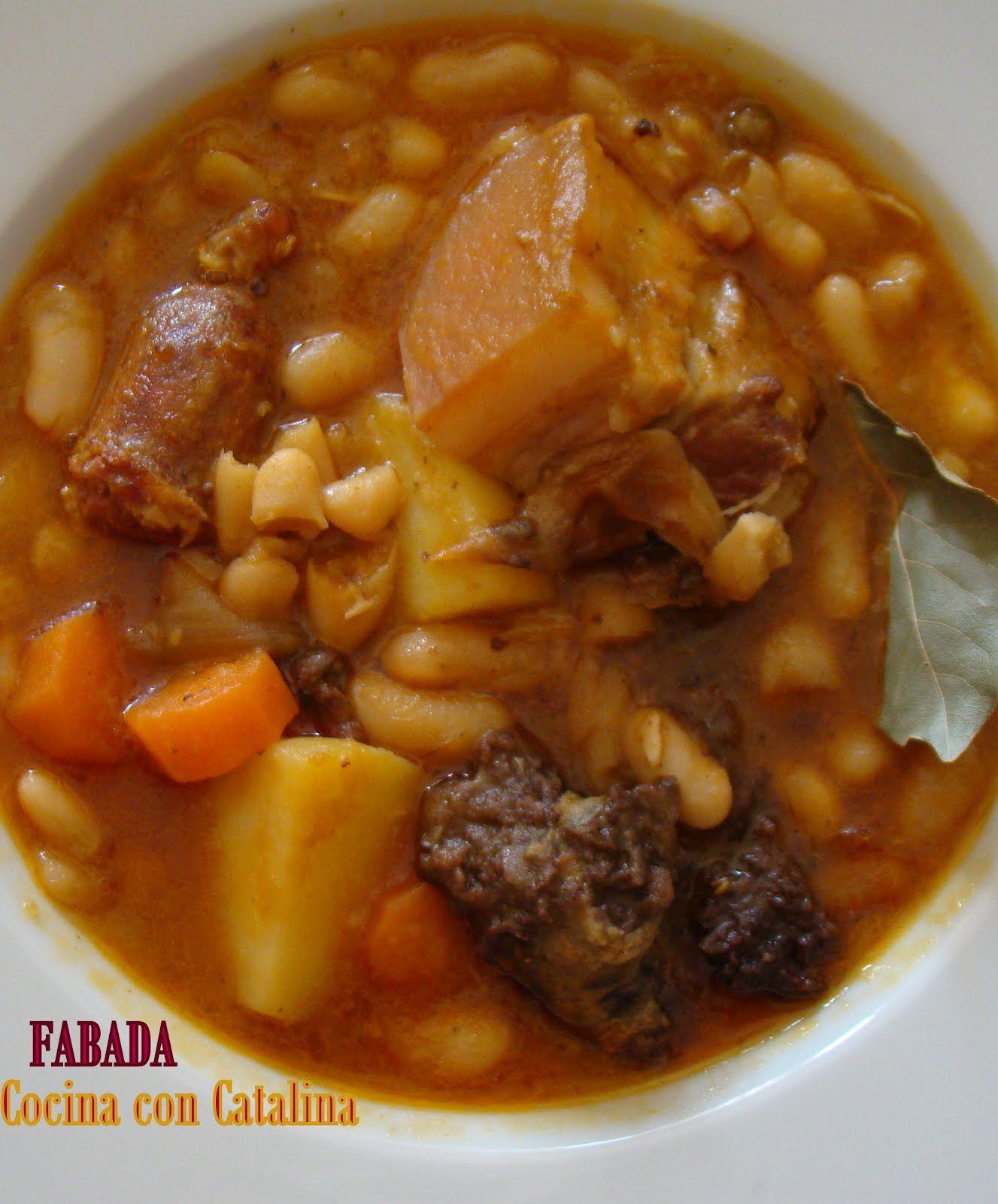 Cocina Con Catalina Potaje De Habichuelas O Fabada Receta De Mi Abuela Recetas De Comida Alubias Con Chorizo Cocina Española Recetas