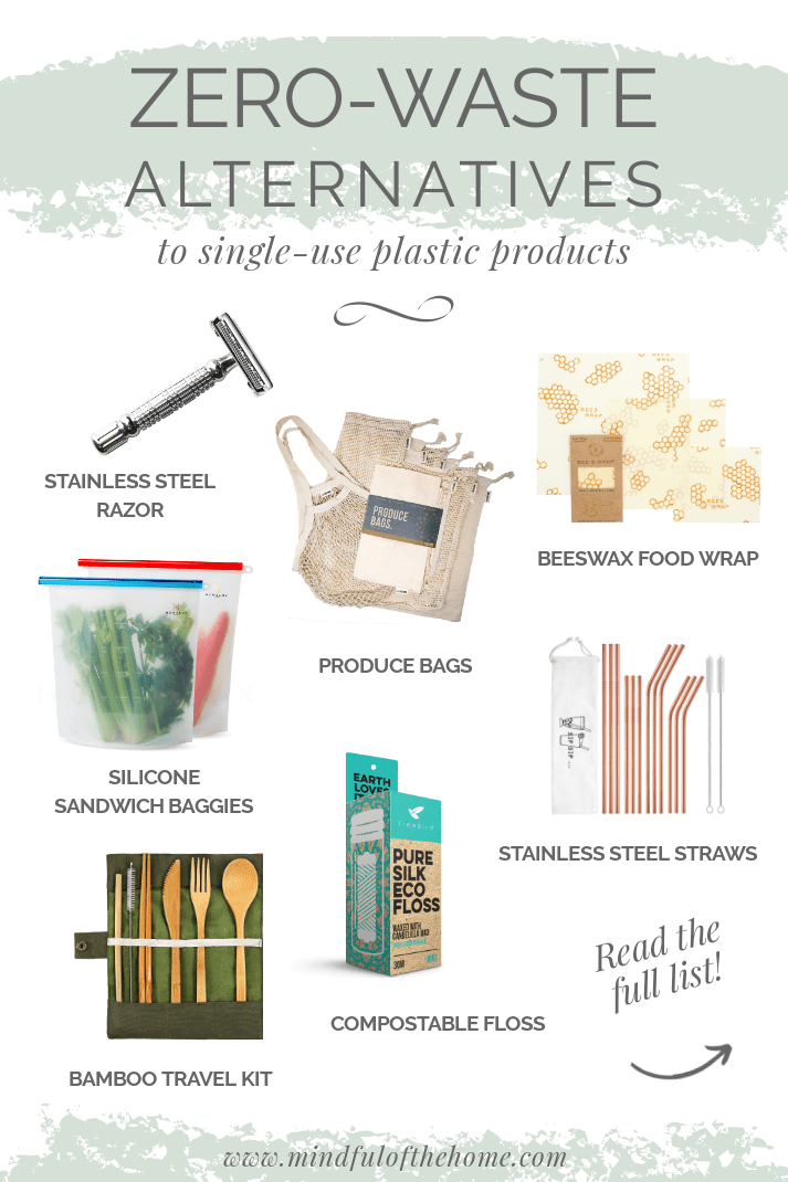These zero-waste products will help you use less plastic in your life and be more eco-friendly. Sustainable living has never been easy with these green alternatives to single-use plastics. #zerowaste #ecofriendlyliving #plasticfree #amazon #sustainableliving #gogreen