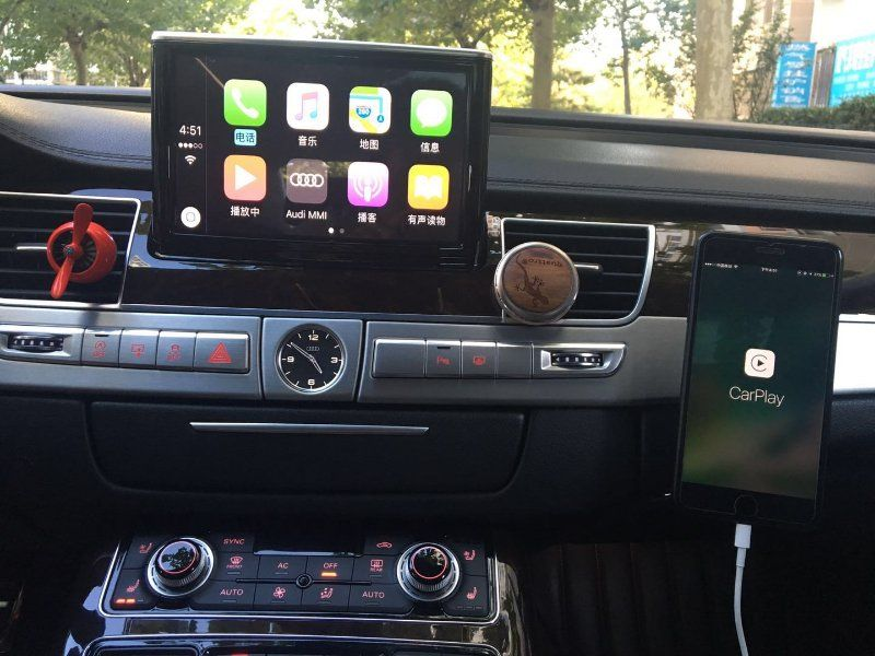 Gocarplay Com Apple Carplay In Audi A8 Makes A Totaly Diff Driving Experence Voice Comand With Siri We Provide Iphone Carplay Ra Audi A8 Apple Car Play Carplay