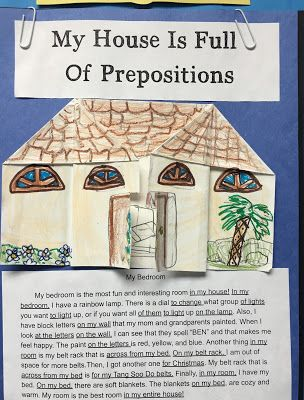 Sharing Strategies Preposition House Project Teaching Prepositions Prepositions Preposition Activities