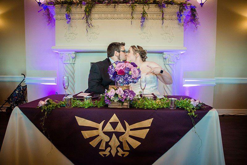 An Elegant Legend Of Zelda Gamer Wedding For Pixel Fiends Zelda Wedding Gamer Wedding Fantasy Wedding