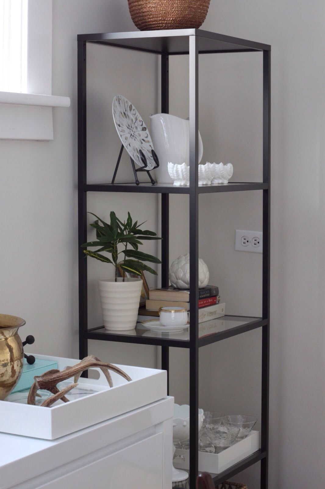 Dining Room Shelf Ideas Vittsjo Homey In 2019 Ikea Shelves Ikea Vittsjo Ikea
