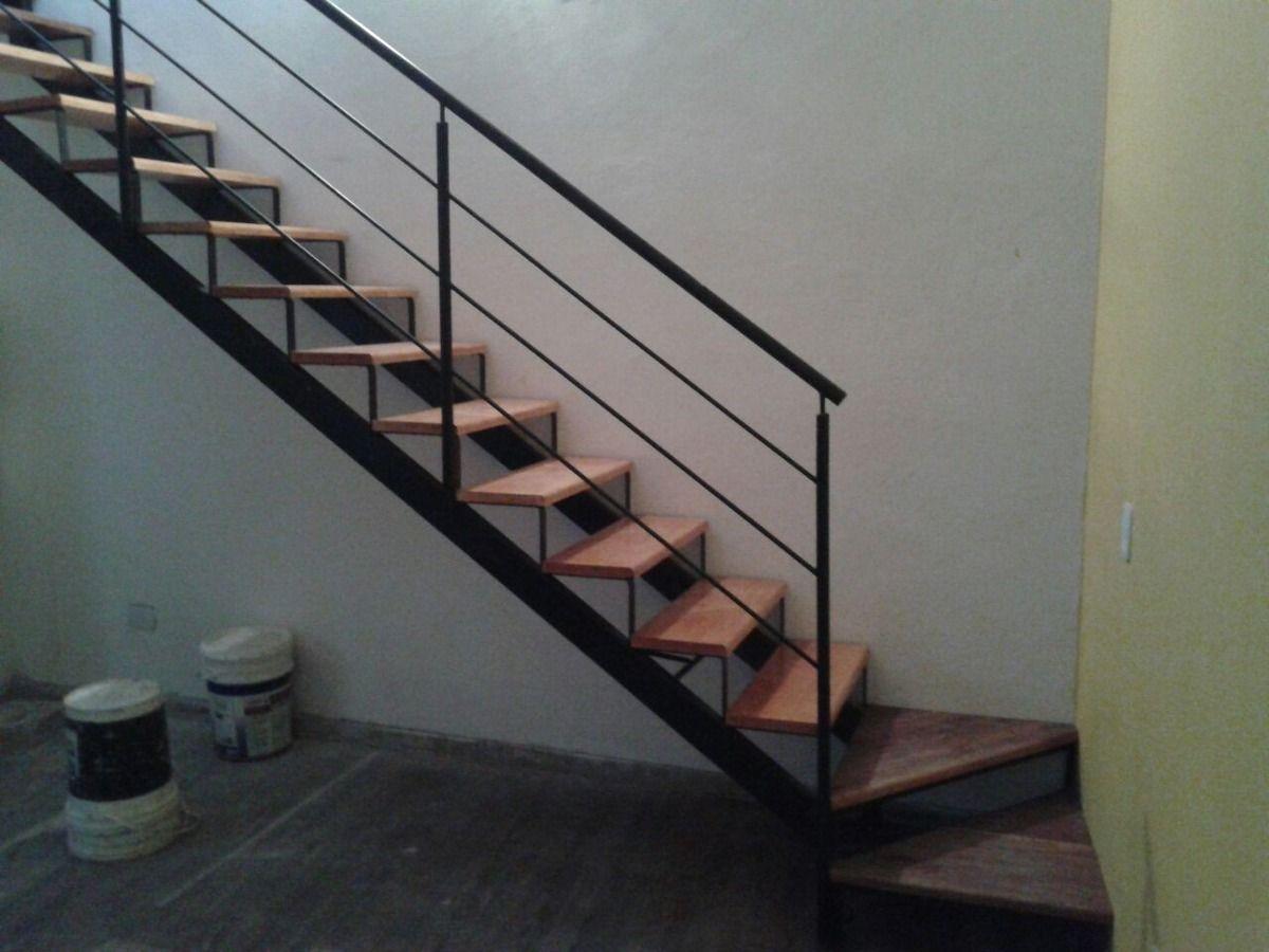 Resultado de imagen de escaleras de hierro y madera obra - Escalera de madera ...