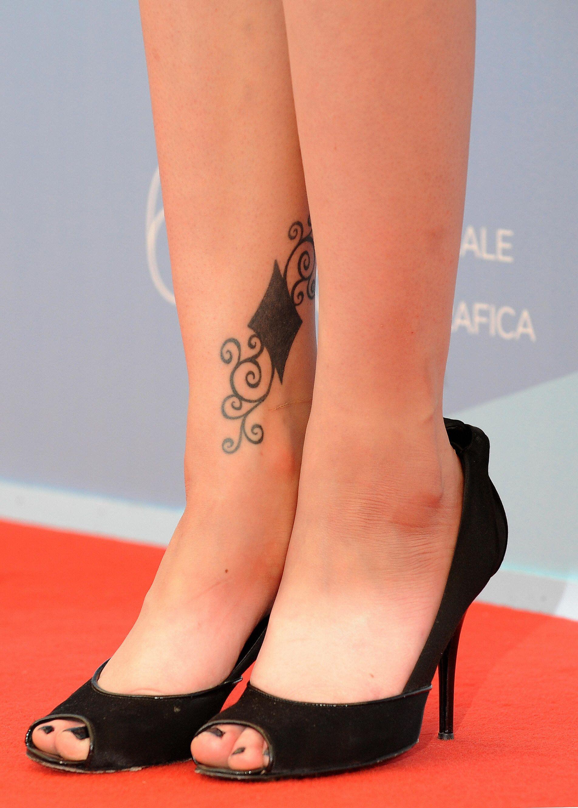 Evan Rachel Wood Celebrity Tattoos Evan Rachel Wood Inner Ankle Tattoos