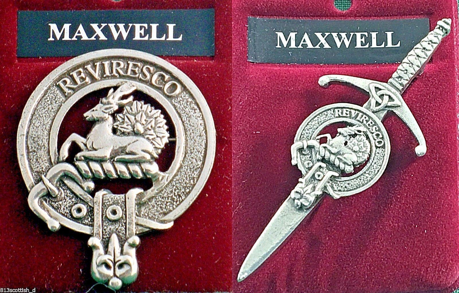 Maxwell clan escocés pin insignia