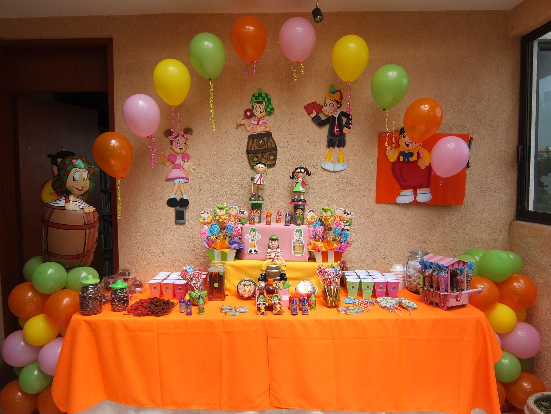 Mesa de dulces del chavo del ocho decoraciones - Globos para fiesta ...