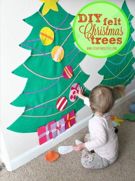 The Best Way To Make A Felt Christmas Tree Felt Christmas Tree Diy Felt Christmas Tree Toddler Christmas