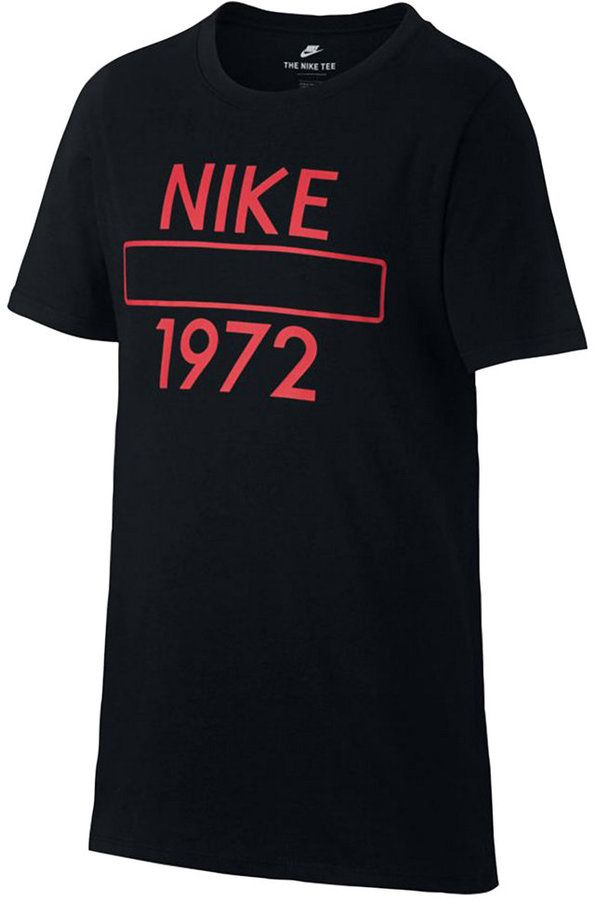 53b3649b Nike Graphic-Print Cotton T-Shirt, Big Boys (8-20) | Products | T ...