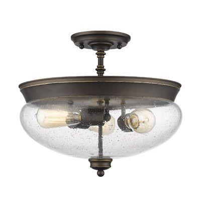 Youll love the amon 3 light semi flush mount at wayfair great deals