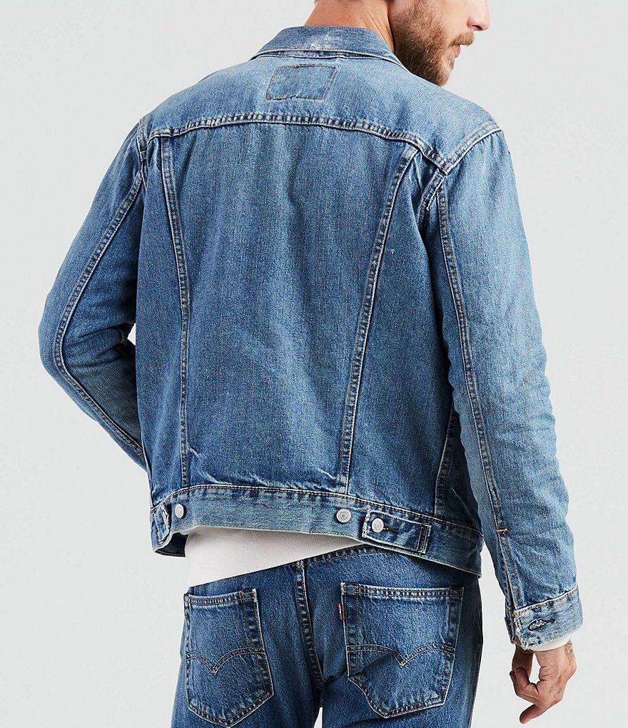 Levi S The Trucker Denim Jacket Dillard S Denim Jacket Denim Jacket Men Levi [ 1020 x 880 Pixel ]