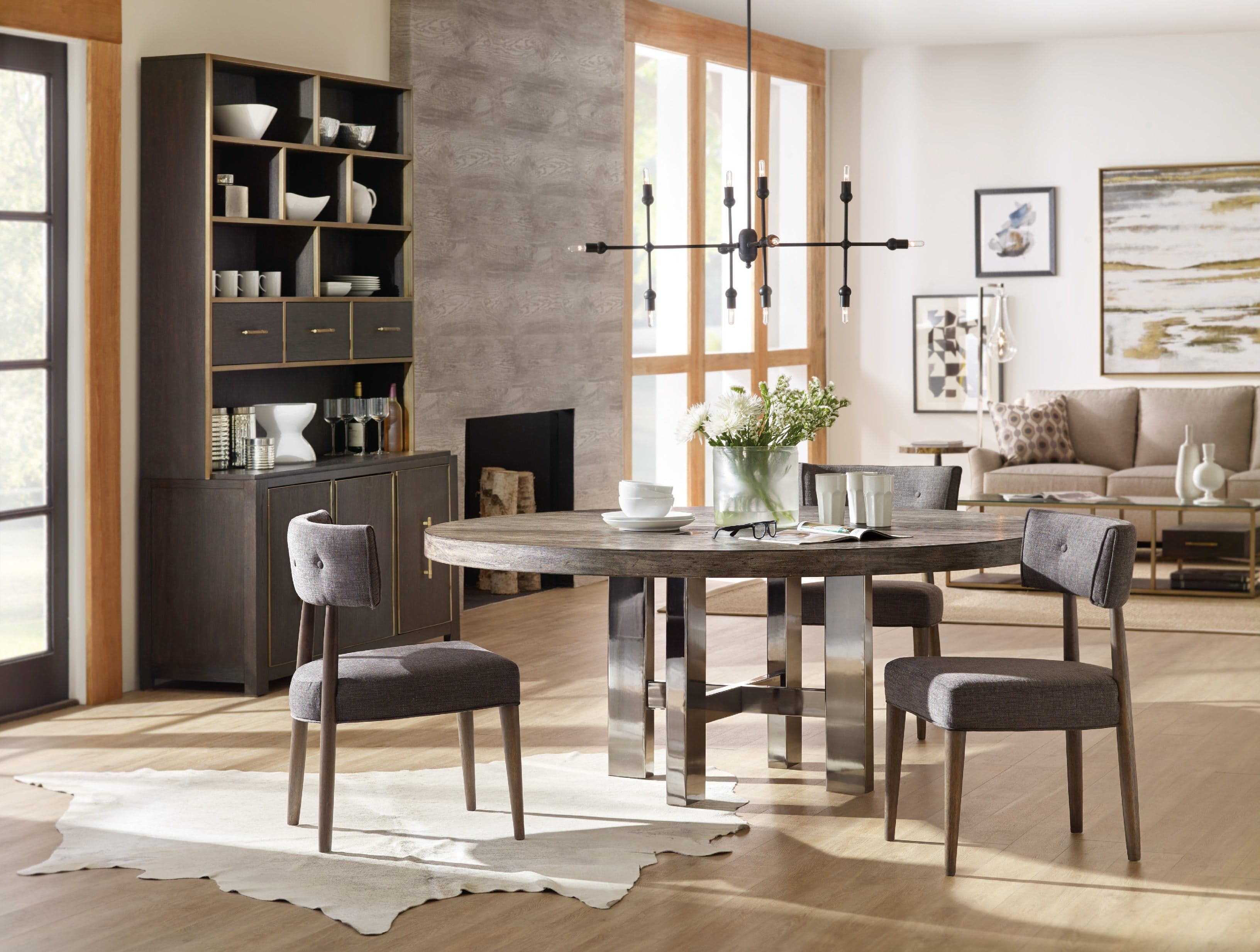 Hooker Furniture Dining Room Curata Upholstered Chair 1600-75510-MWD ...