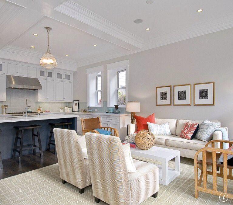 Benjamin moore balboa mist living room grey wall - Gray color schemes for living room ...