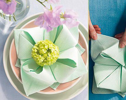 Servietten zur Seerose falten - Tischdeko zur Hochzeit 5
