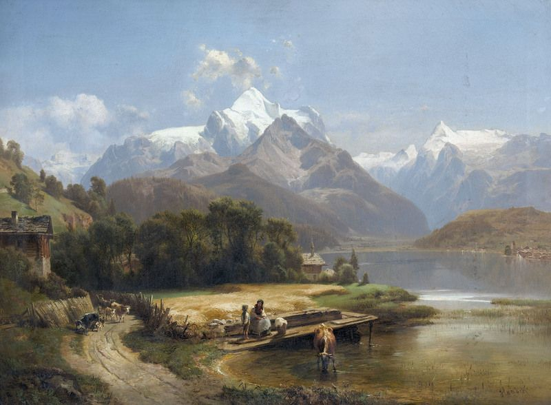 143 best painting alpine images on Pinterest | Landscape art ...