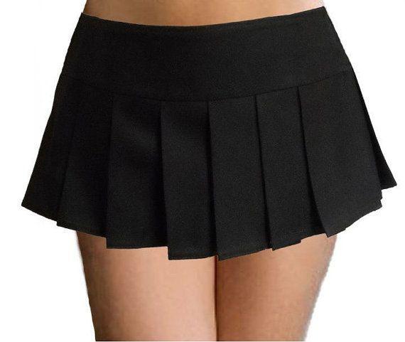 Pure Black Color Costume Super Short Plaid Black Color Pleated ...