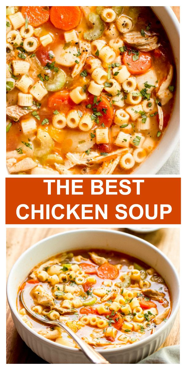 Dump and Go Sicilian Chicken Soup - Little Broken