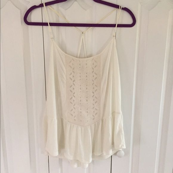 Cream Babydoll Tank A American Eagle Outfitters Tops Tank Tops