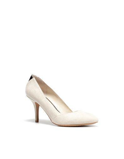 Zara, white pumps   White shoes heels