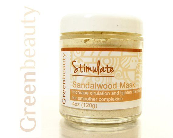 Natural Face Mask, 4oz, Sandalwood Mask, Tightening Face