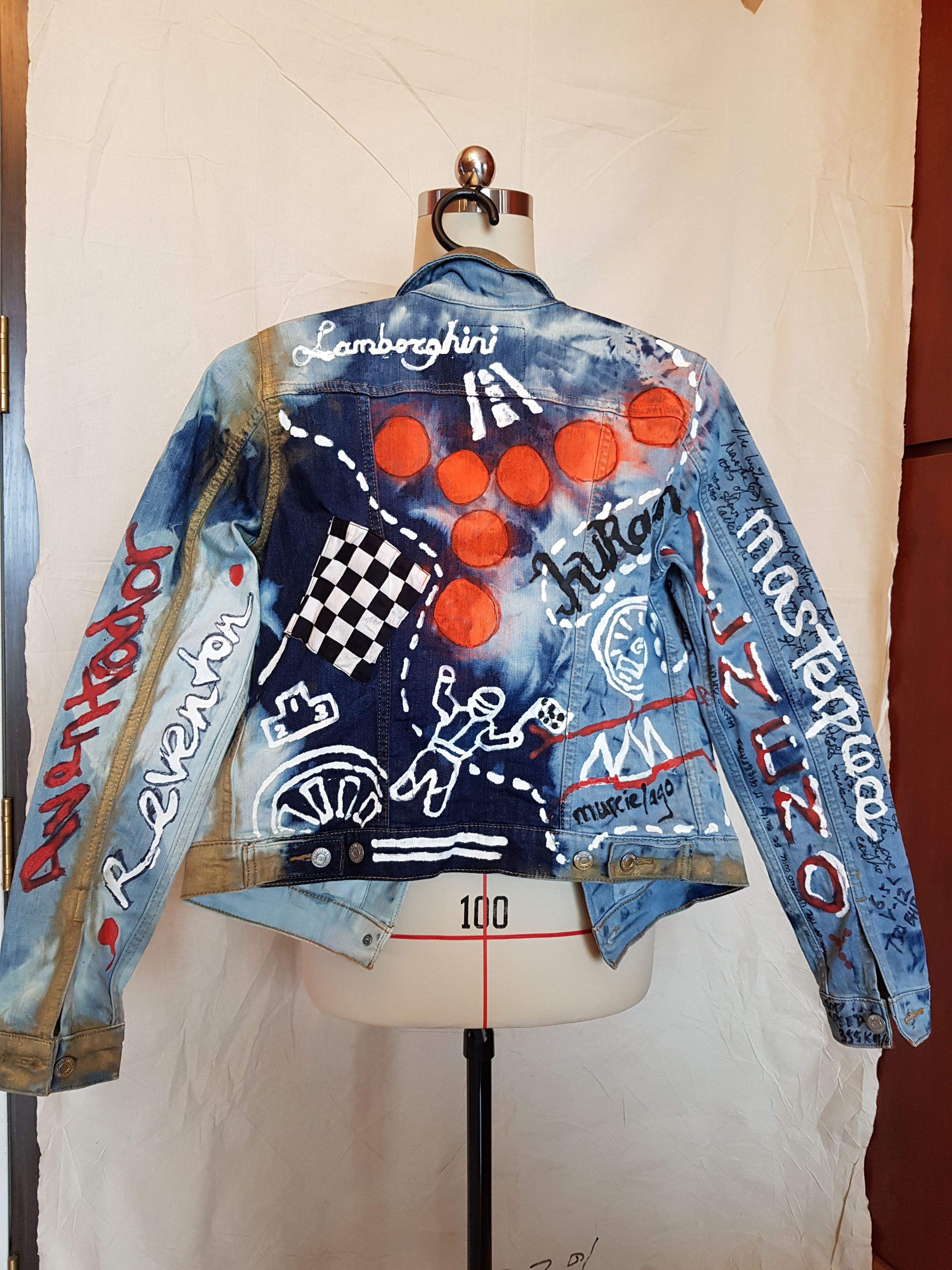 Cross Bleached Denim Jacket Using Spray And Acrylic Paint You Decide The Theme We Make One Of A Kind Graffit Painted Denim Jacket Denim Design Denim Fashion [ 4032 x 3024 Pixel ]