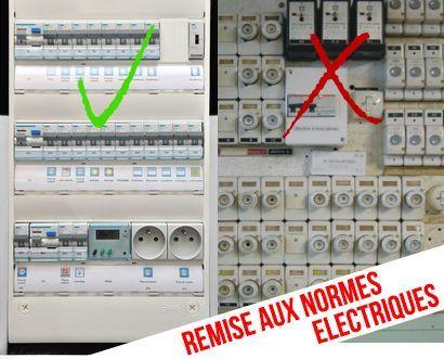 Remplacement de tableau électrique, Remise aux normes électriques