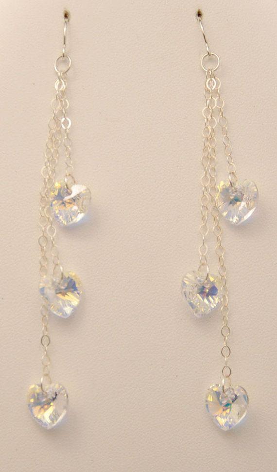 Aura Borealis Swarovski Crystal Hearts on by urbangracefashions, $18.00