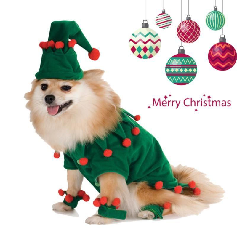 Christmas Halloween Pet Cat Cosplay Elf Suit Costume S Xl Pet
