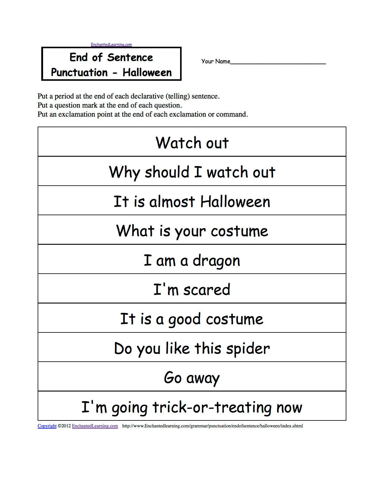 First Grade Capitalization Worksheets In