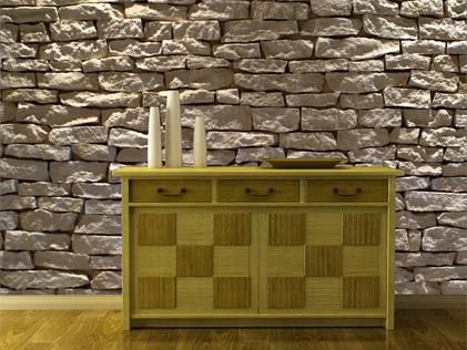 Fake Library Wallpaper Romeo S Muse Faux Stone Panels Faux Stone Wallpaper Stone Panels