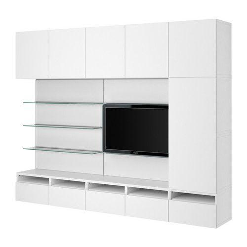 $913   10 COLORS  BESTÅ/FRAMSTÅ TV/storage combination IKEA The panel is hollow; hide cords inside.