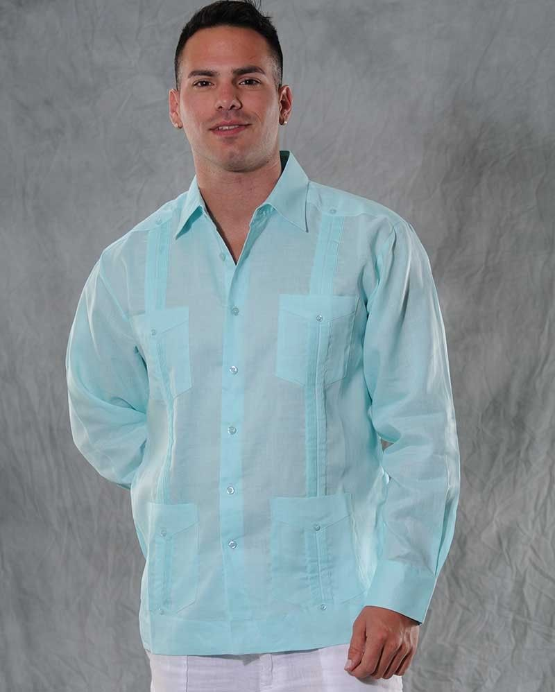 authentic cuban guayabera shirt long sleeve linen long