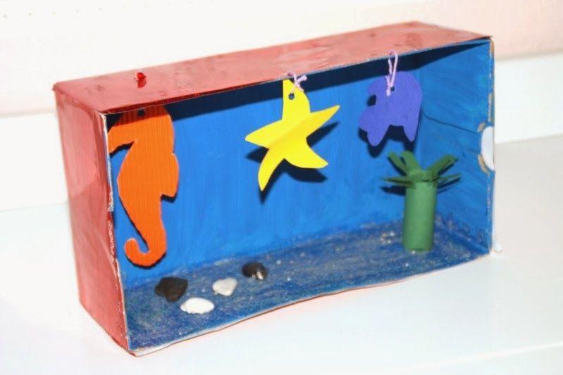 aquarium aus einem schuhkarton make your own aquarium. Black Bedroom Furniture Sets. Home Design Ideas