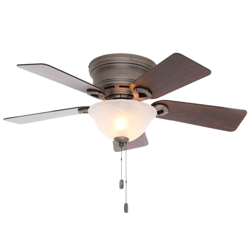 Hunter Conroy 42 In Indoor Antique Pewter Low Profile Ceiling Fan