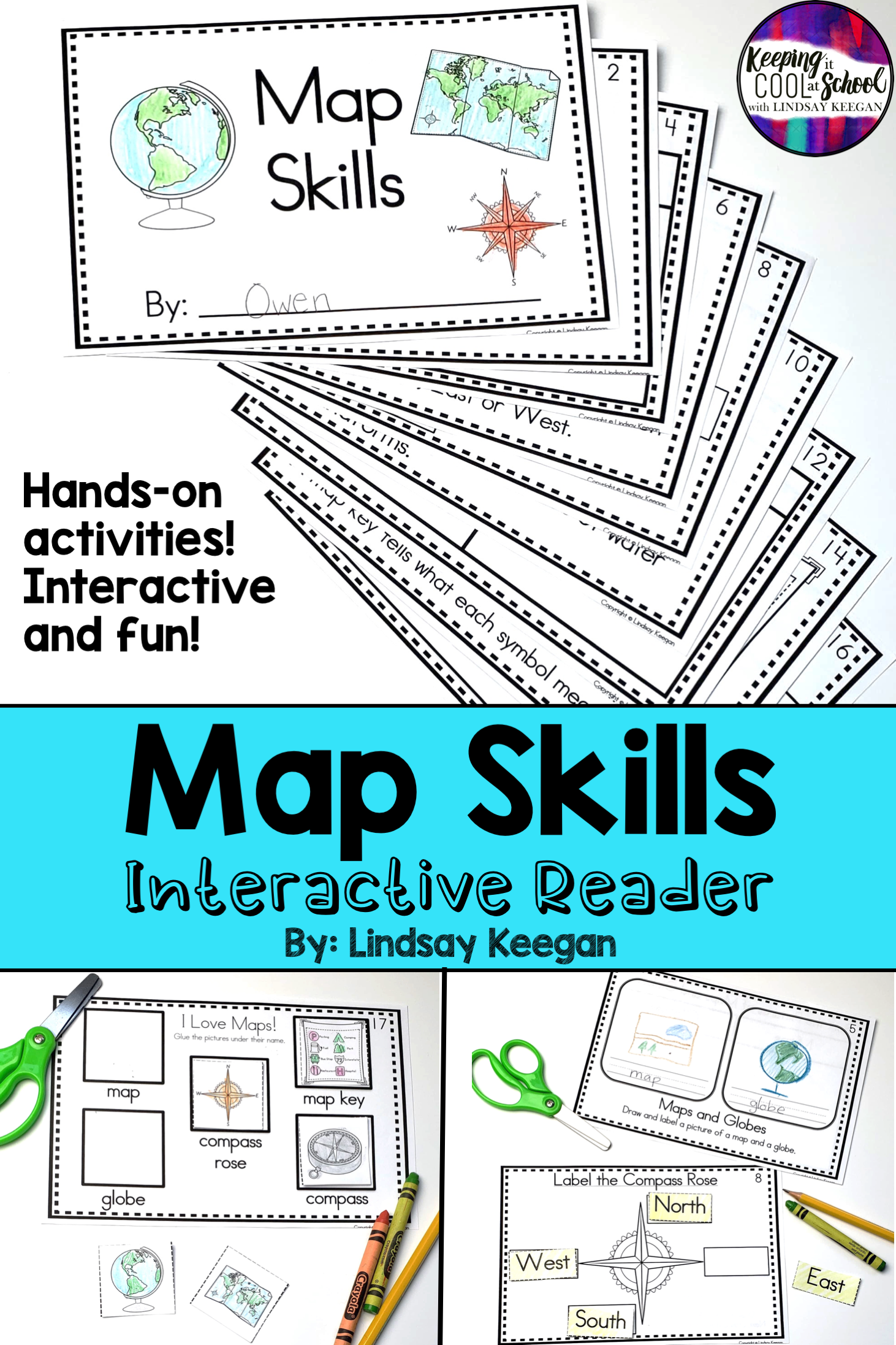 Map Skills Interactive Reader Maps Globes Cardinal
