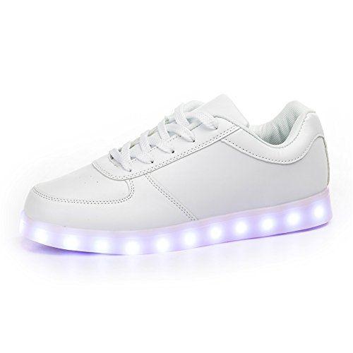 c867ab60ea29a NEW SIZE VERSION SanYes USB Charging LED Light Up Shoes Sports ...