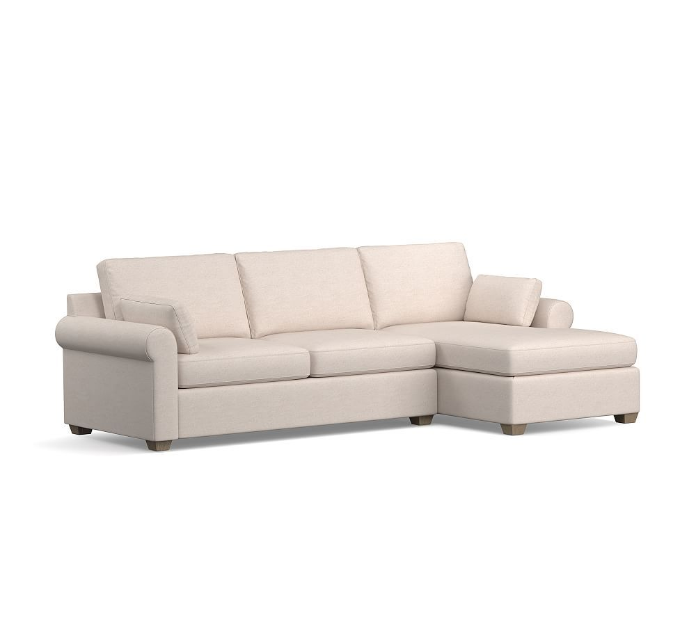 Jenner Roll Arm Upholstered Sofa With Chaise Sectional