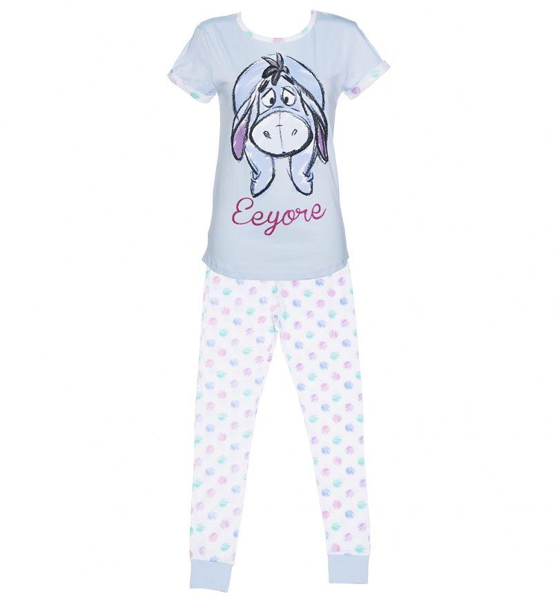 Ladies Blue Eeyore Pyjamas