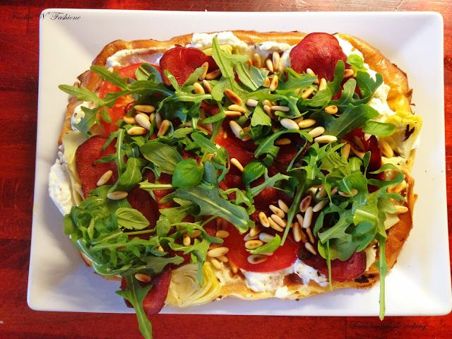 Foodies N' Fashion: Sommerpizza med ricotta, rucola og kalkunbacon