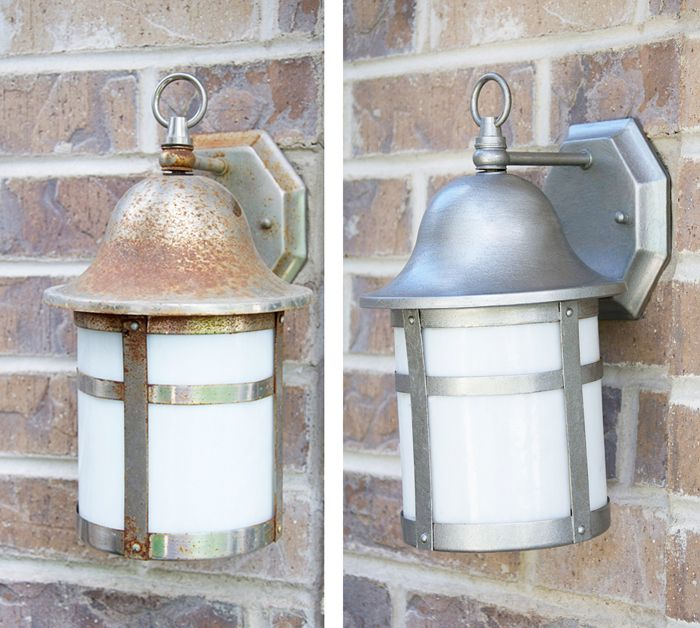 Spruce up your outdoor lighting with rust oleum universal metallic spruce up your outdoor lighting with rust oleum universal metallic spray paint workwithnaturefo