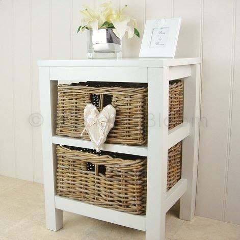 2 Willow Basket Storage Unit | Bliss And Bloom Ltd