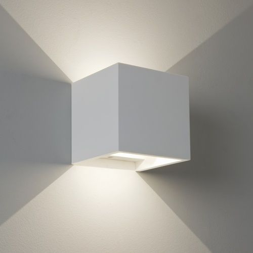 Led wall lighting pienza plaster led wall light cube shape ip20 led wall lighting pienza plaster led wall light cube shape ip20 ingress protection rated led wall light made from plaster with a white finish aloadofball Gallery