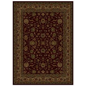 Shaw Living Palace Kashan Rectangular Red Transitional Area Rug Common 5 Ft X