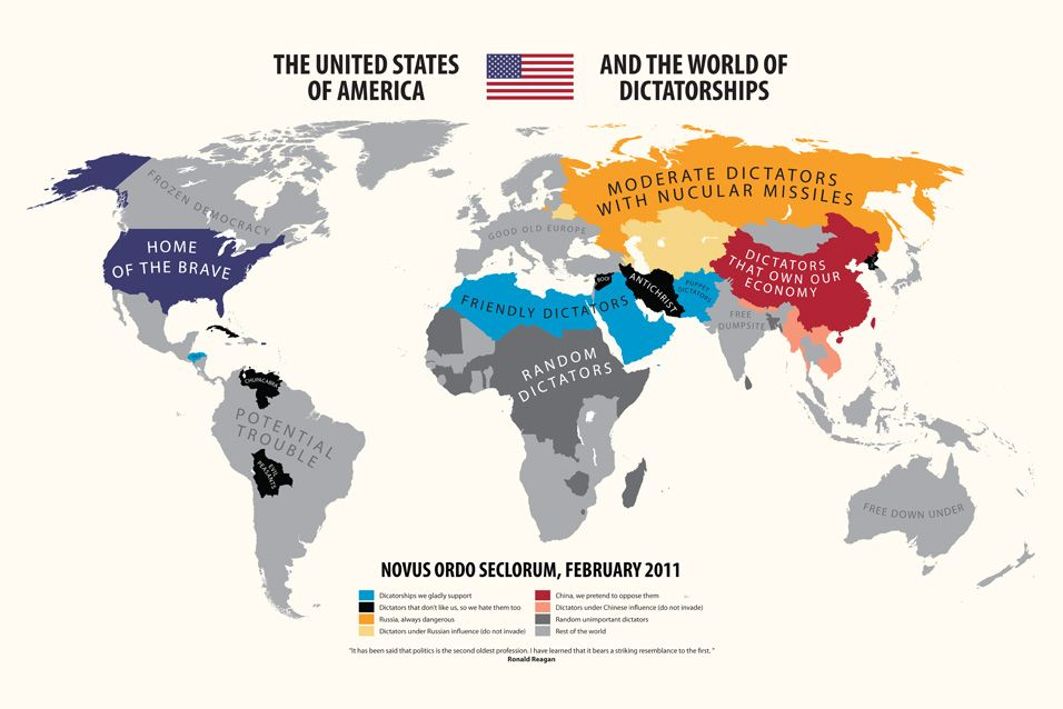 The World Of Dictatorships Funny Maps