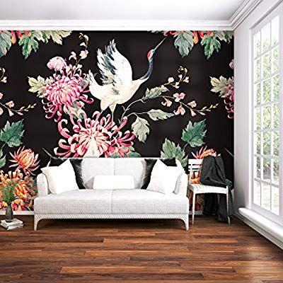 decomonkey Fototapete Blumen Japan Asien Orient 400x280 cm XXL - moderne tapeten fr schlafzimmer