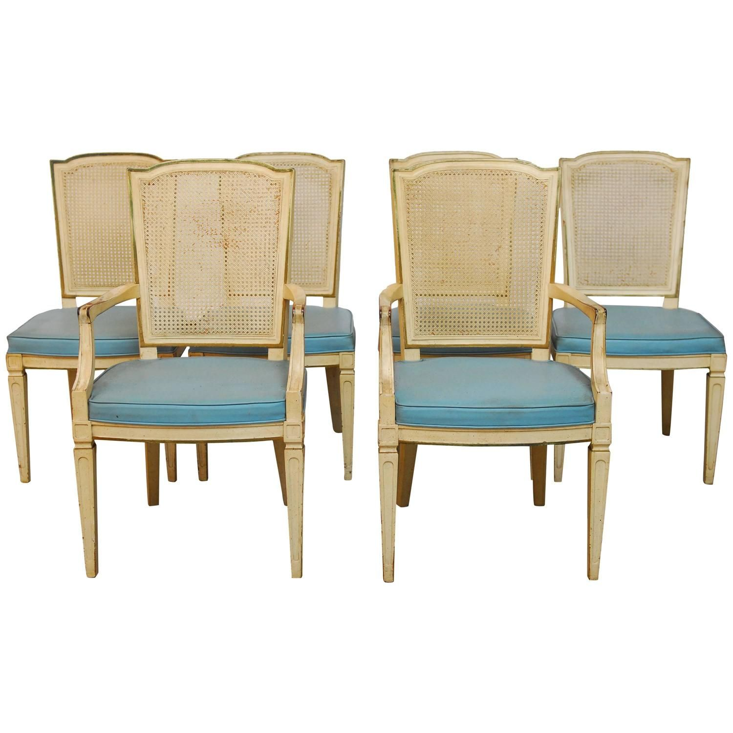 Set Of Six Louis Xvi Style Cane Dining Chairshenredon  Louis Alluring Henredon Dining Room Sets 2018