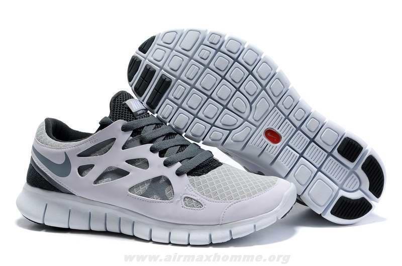 Femmes 443815-100 Nike Free Run 2 Blanc Cool Gris Wolf Gris