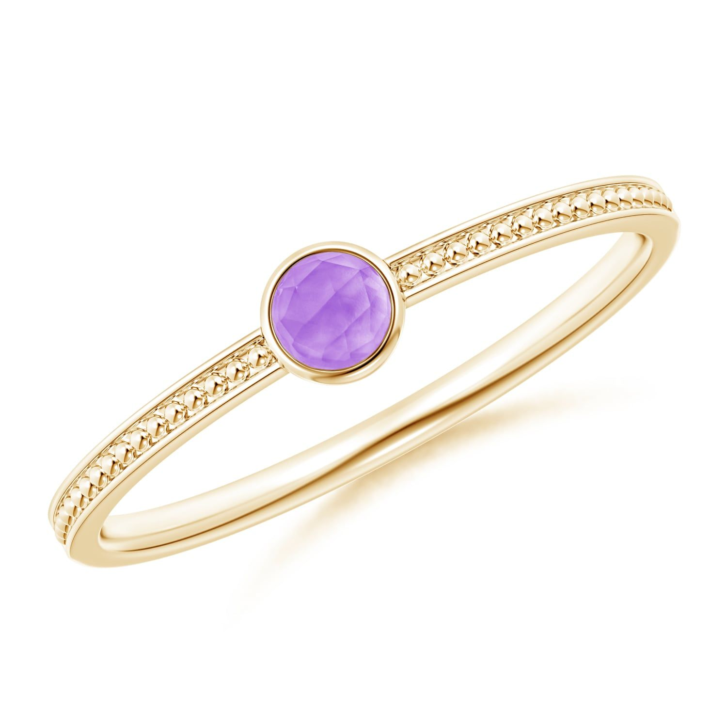 Angara Vintage Amethyst Ring in Rose Gold ZpmkVaRB60