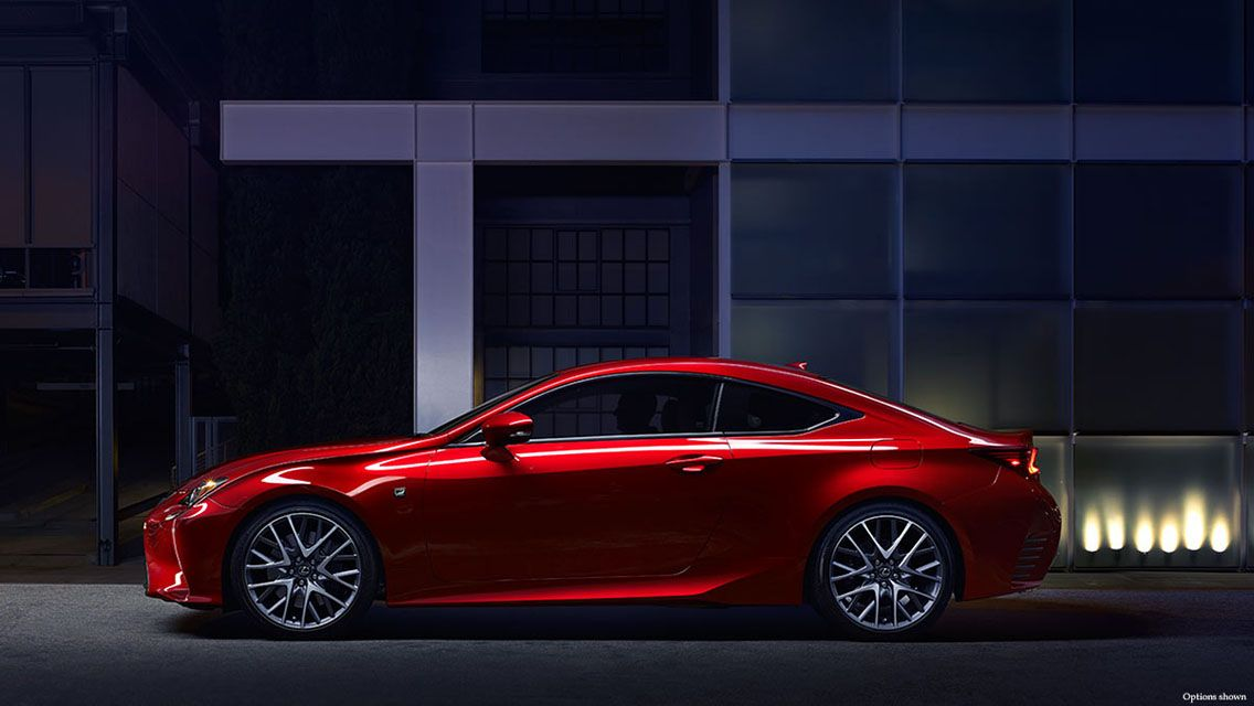 Red 2015 Lexus RC 350 F Sport Concept Side View Wallpaper