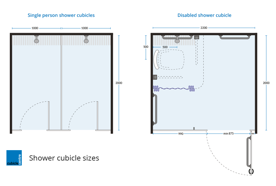 Shower cubicles (With images) | Shower sizes, Shower cabin ...