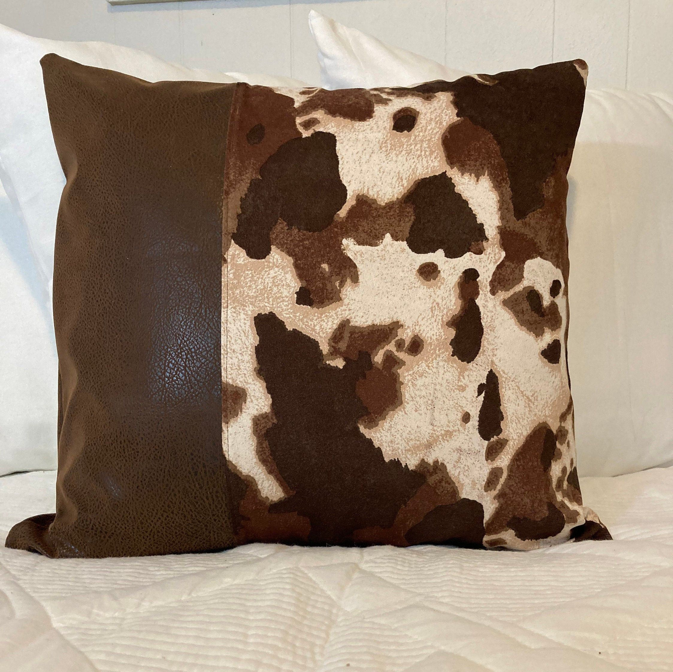 Cowhide Pillow Farmhouse Pillow Cover Country Pillow Cover Cowhide Throw Pillow Cow Pillow In 2020 Cowhide Pillows Country Pillows Farmhouse Pillows